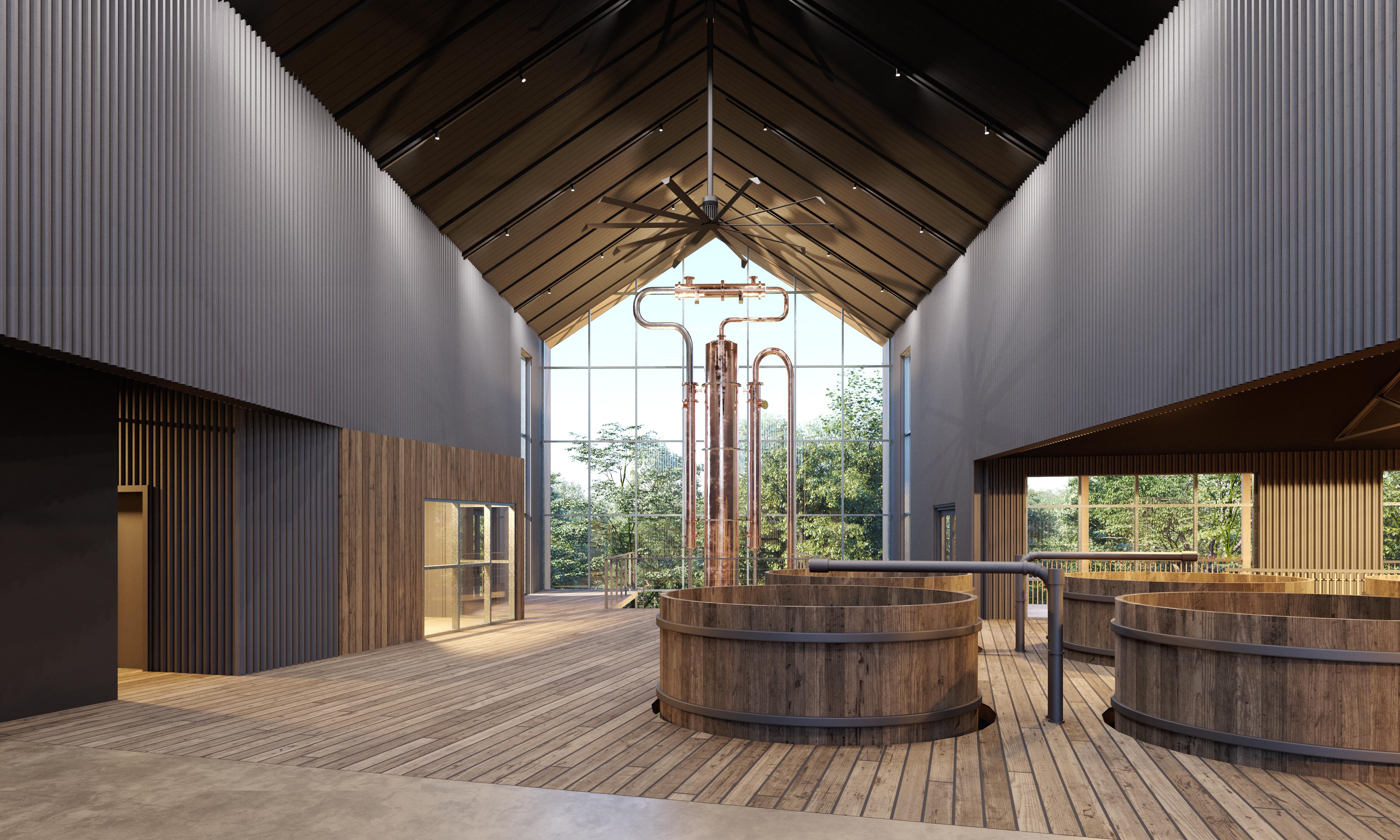 clyde-mays-distillery-interior-wood-stills