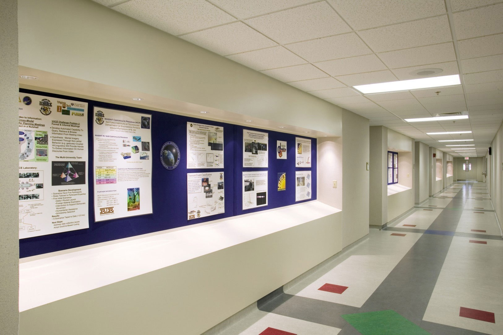 wright-patterson-airforce-base-technology-graduate-school-engineering-management-hallway